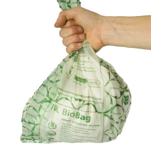 Biodegradable 'plastic' bags, cups, cutlery etc