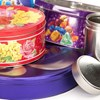 Metal food tins - chocolate, biscuit and coffee
