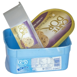 Ice cream tubs and lids