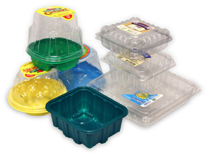 Plastic fruit punnets / food trays