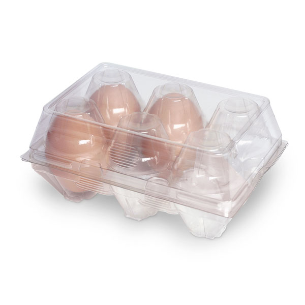 Plastic egg boxes