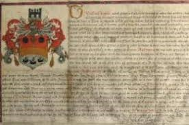 1527 charter giving the city coat of arms