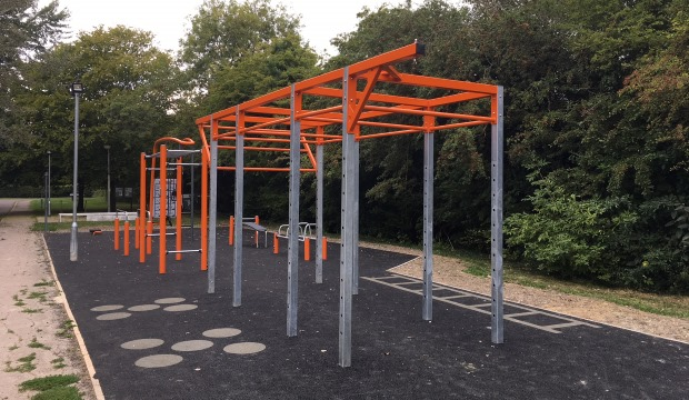 Fitness equipment at Coldhams common
