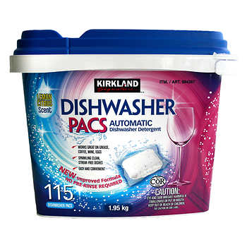 Plastic dishwasher tab tub